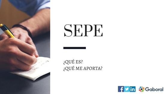 ¿Qué es el SEPE?